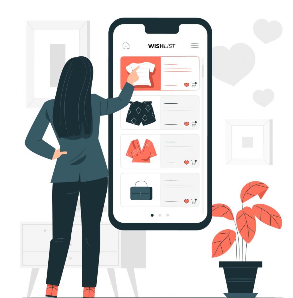 Web shop mobile women online shopping